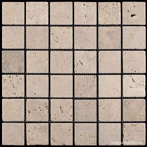 Мозаика из натурального камня M090-48T (Travertine) (48х48)